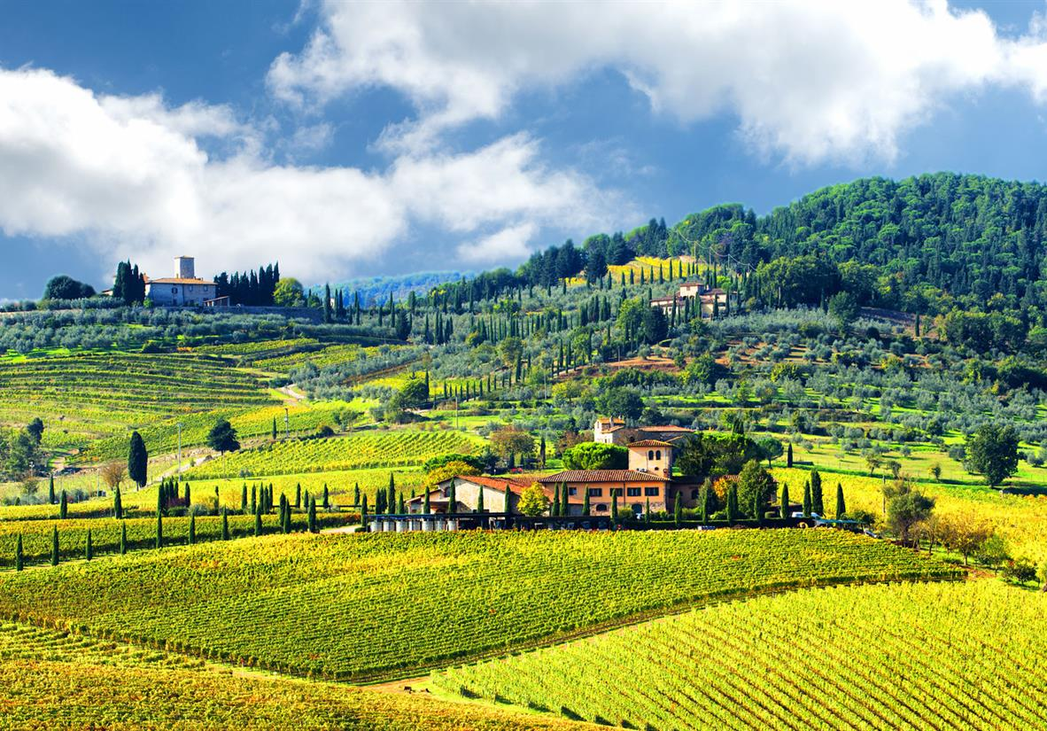 Stunning views while walking in Tuscany's Chianti