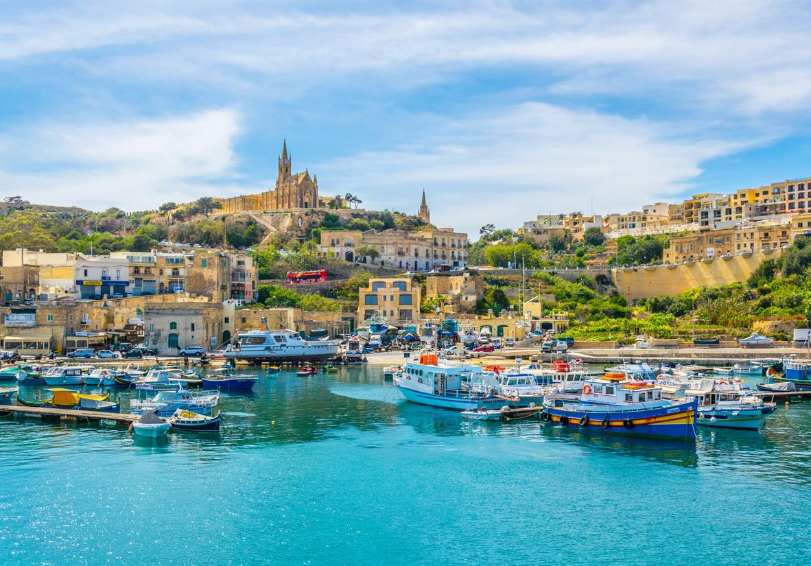 Mgarr Harbour on Gozo