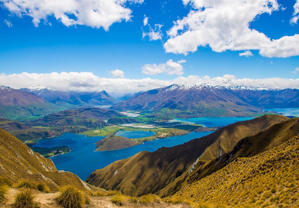 Best of Neuseeland - Blick von Roys Peak Wanaka