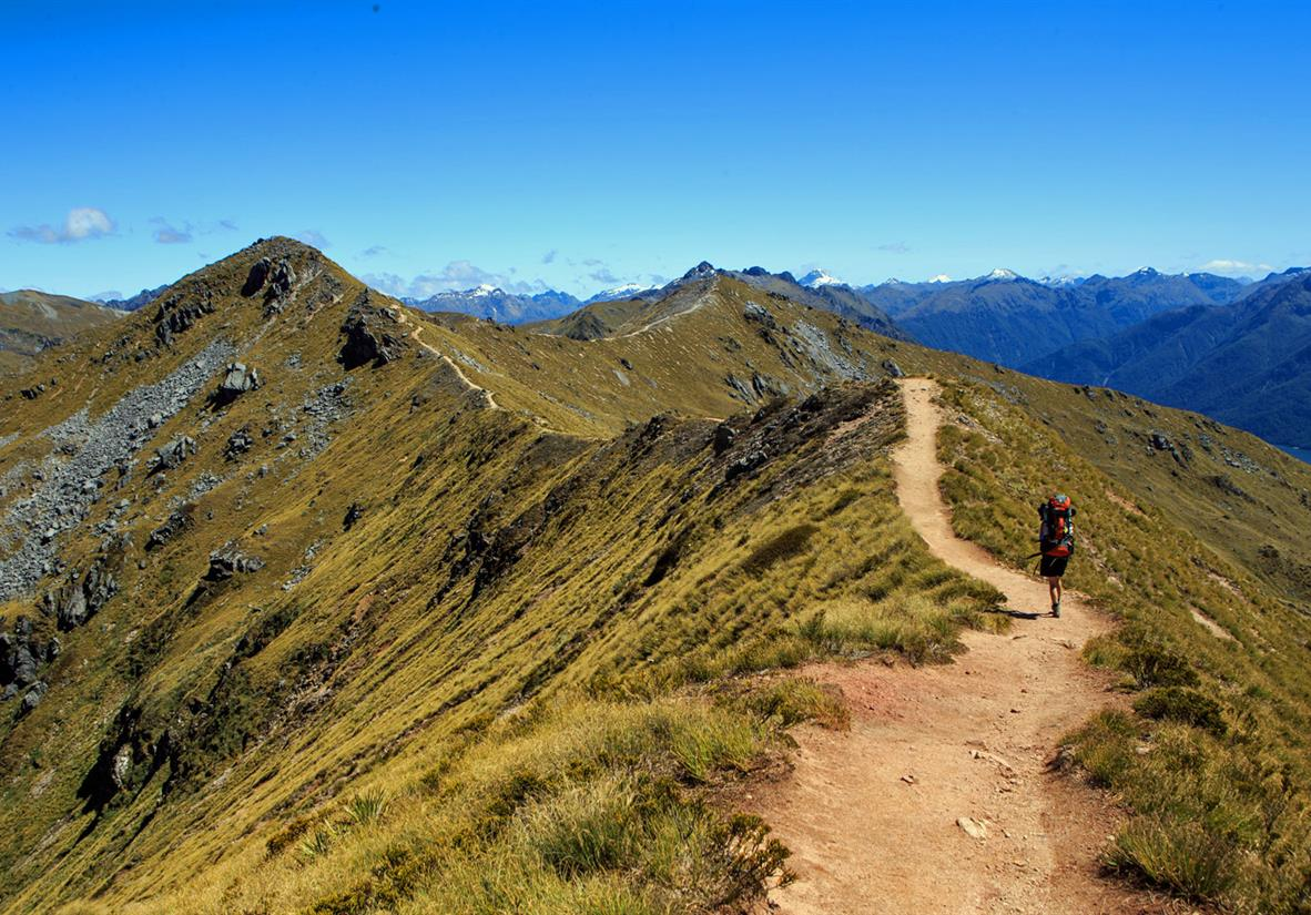 Walking high ridges