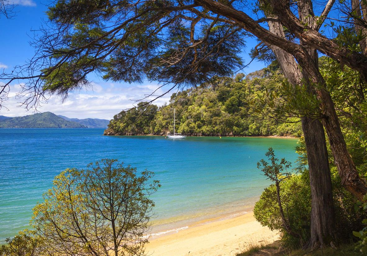 Turquoise waters of the Marlborough Sounds