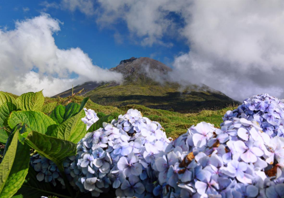 Dormant volcanic peaks