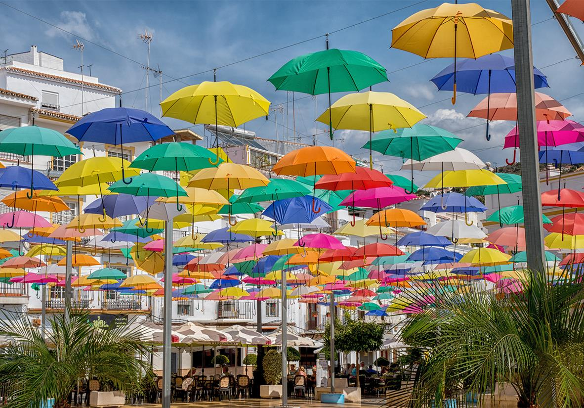 The funky umbrella festival in Agueda