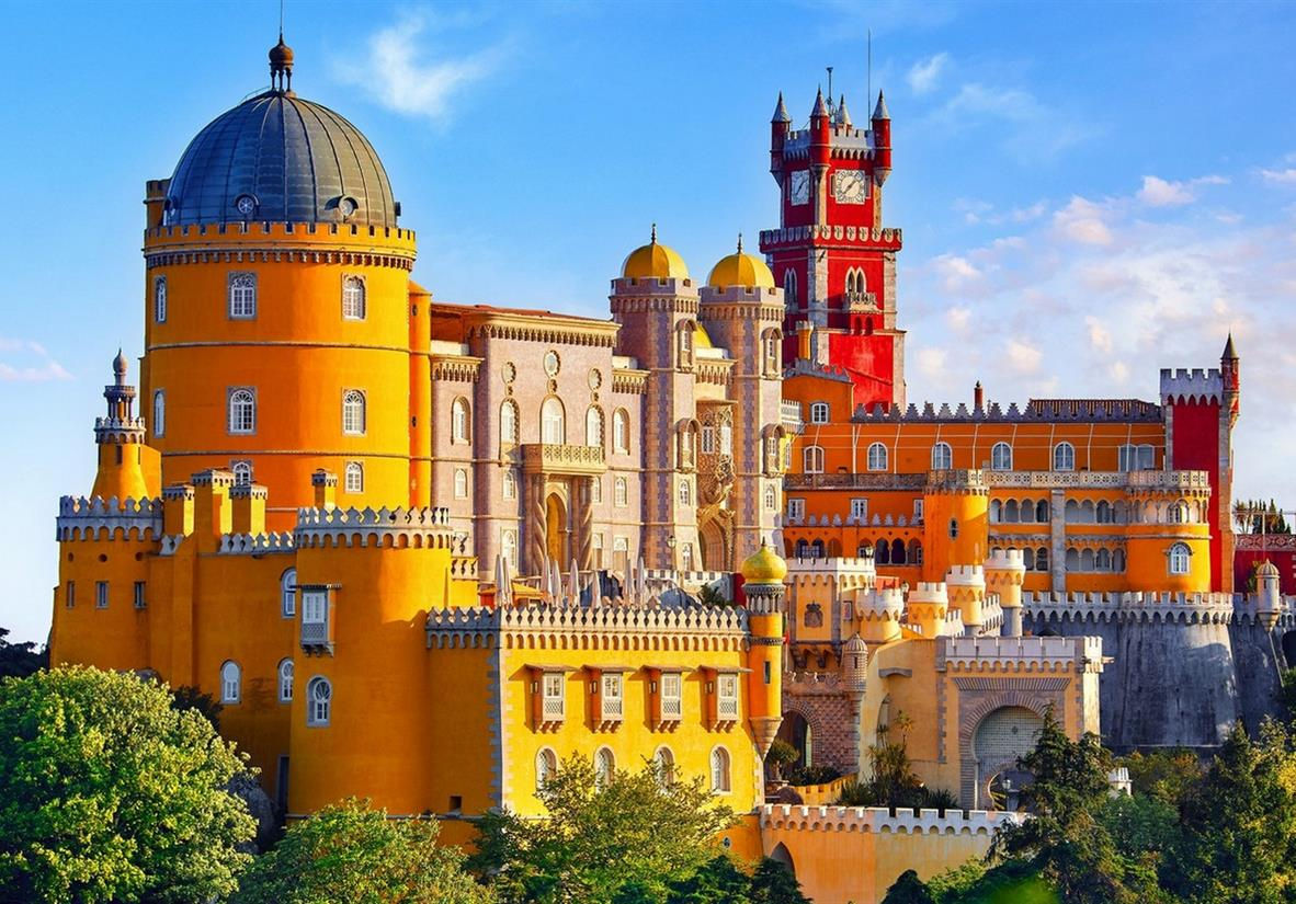 Pena Palace, high on the hill above Sintra