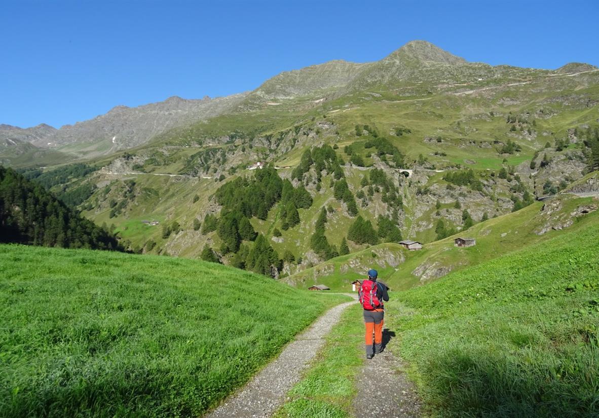Abstieg vom Timmelsjoch