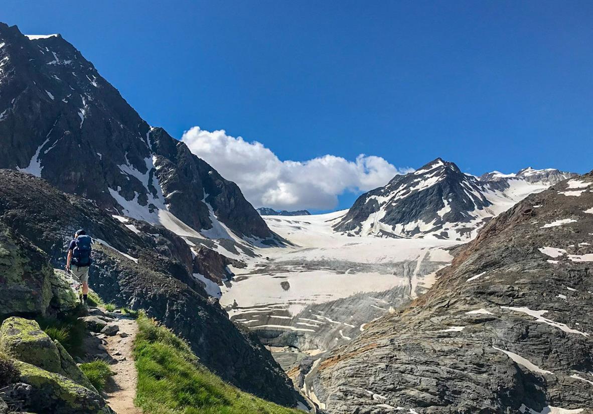 Fantastische Sicht auf den Gletscher