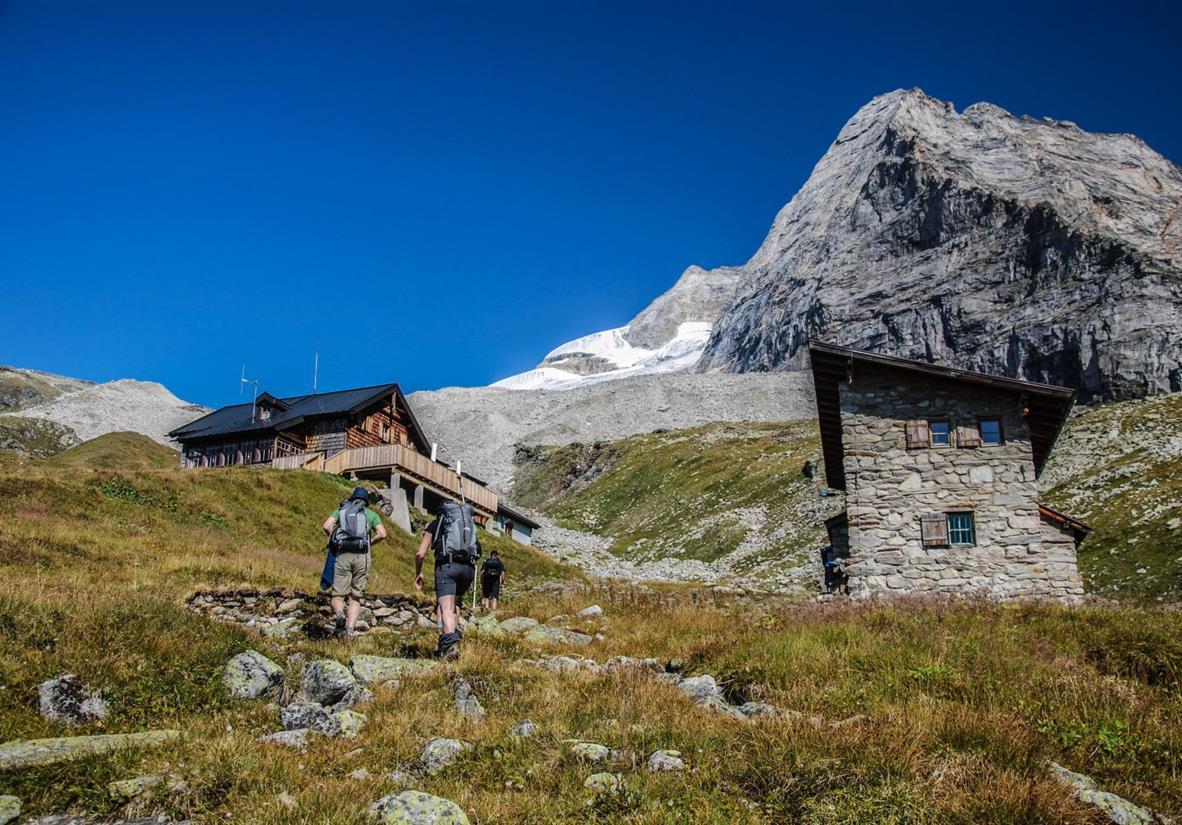 Aufstieg zur Geraer Hütte