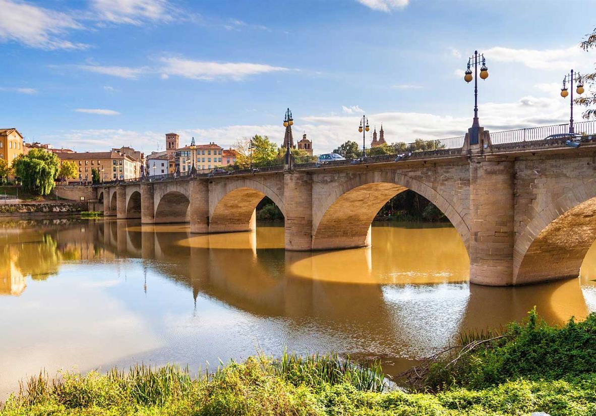 Die Pilgerbrücke von Logrono