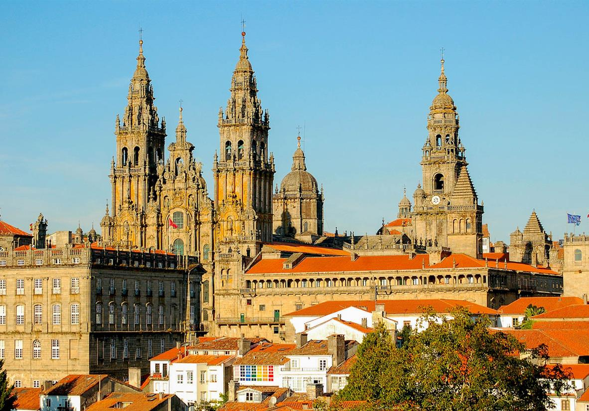 Die Kathedrale in Santiago de Compostela