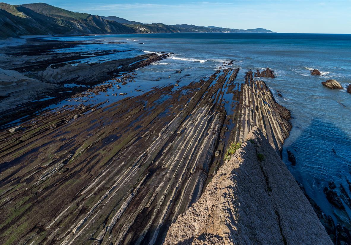 Million year old rocks in the Basque Geopark