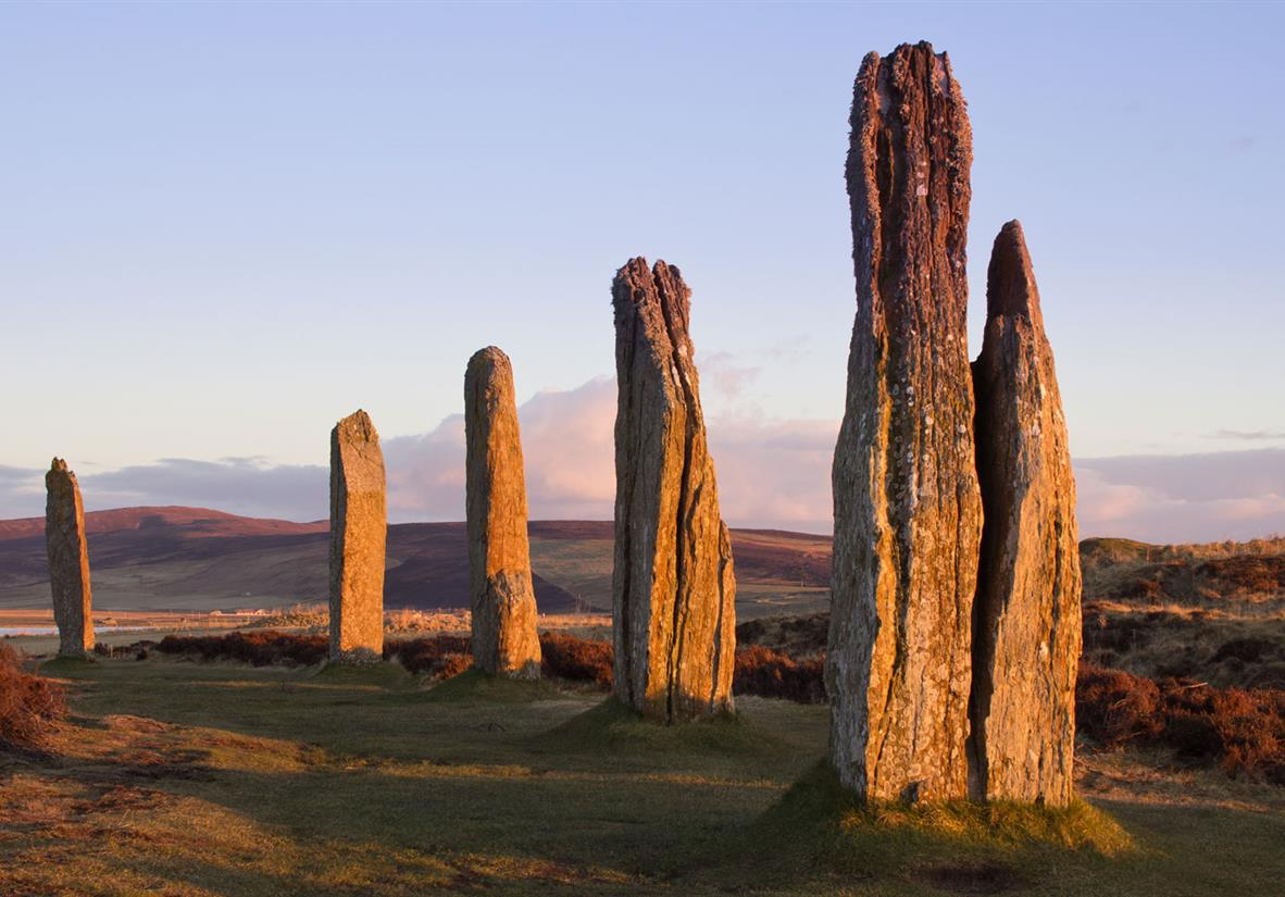 The standing stones at the Ring of Brodgar