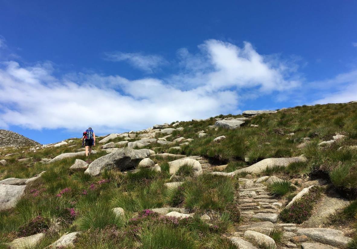Ascending Goatfell