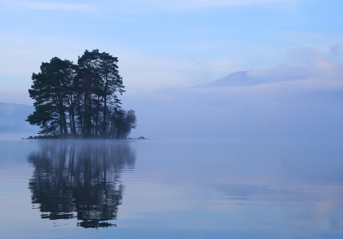 Loch Tay in the mist