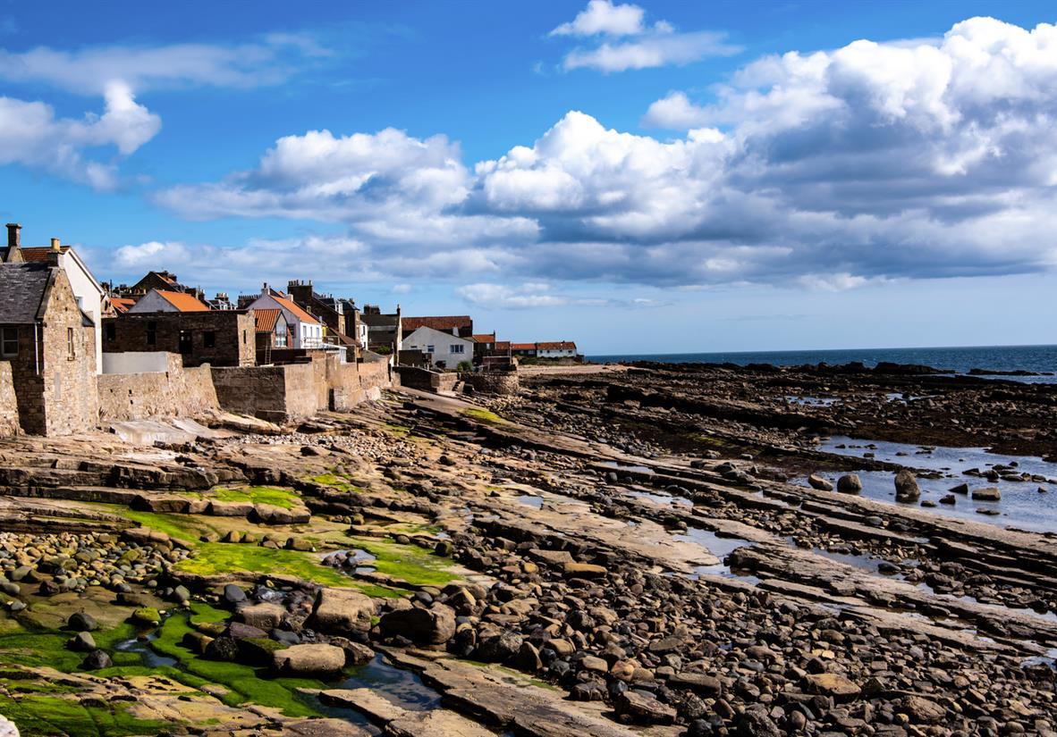 Anstruther as seen from the coast