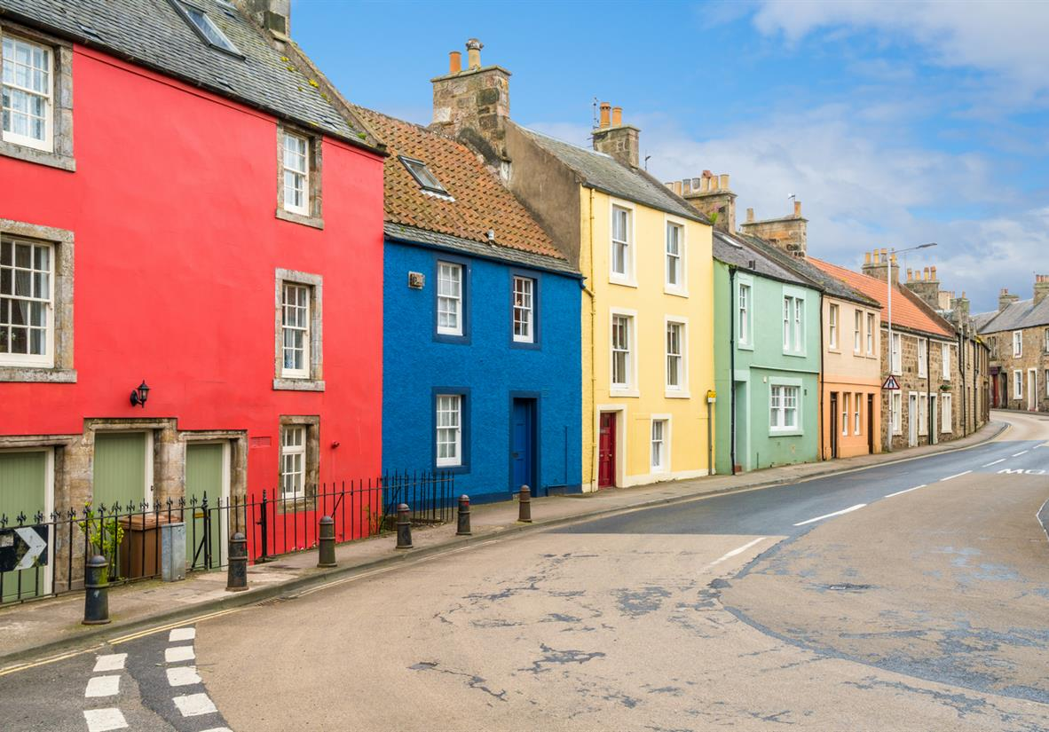 Colourful houses in Anstruther