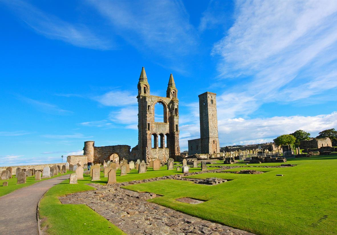 The cathedral ruins in St Andrews