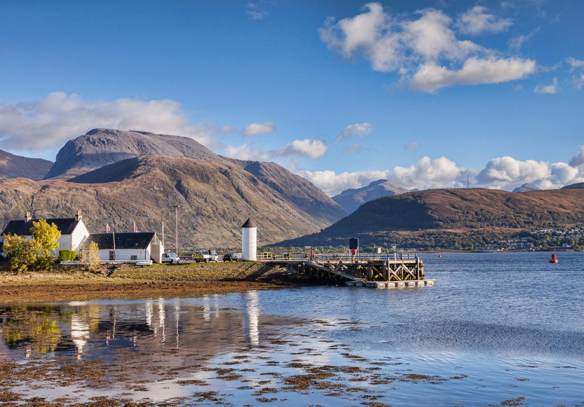 Views of Ben Nevis over Loch Linnhe