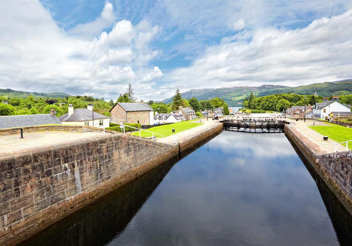 The Caledonian Canal at Fort Augustus