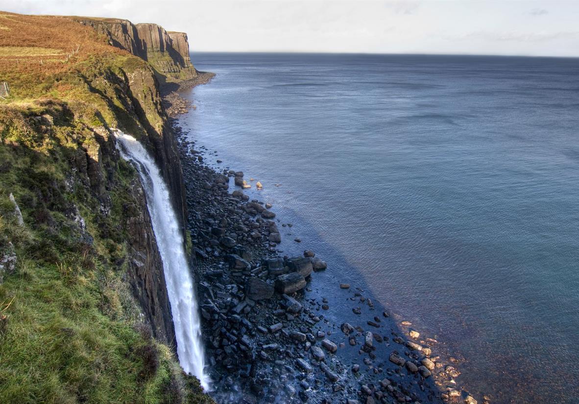 The waterfall at Kilt Rock