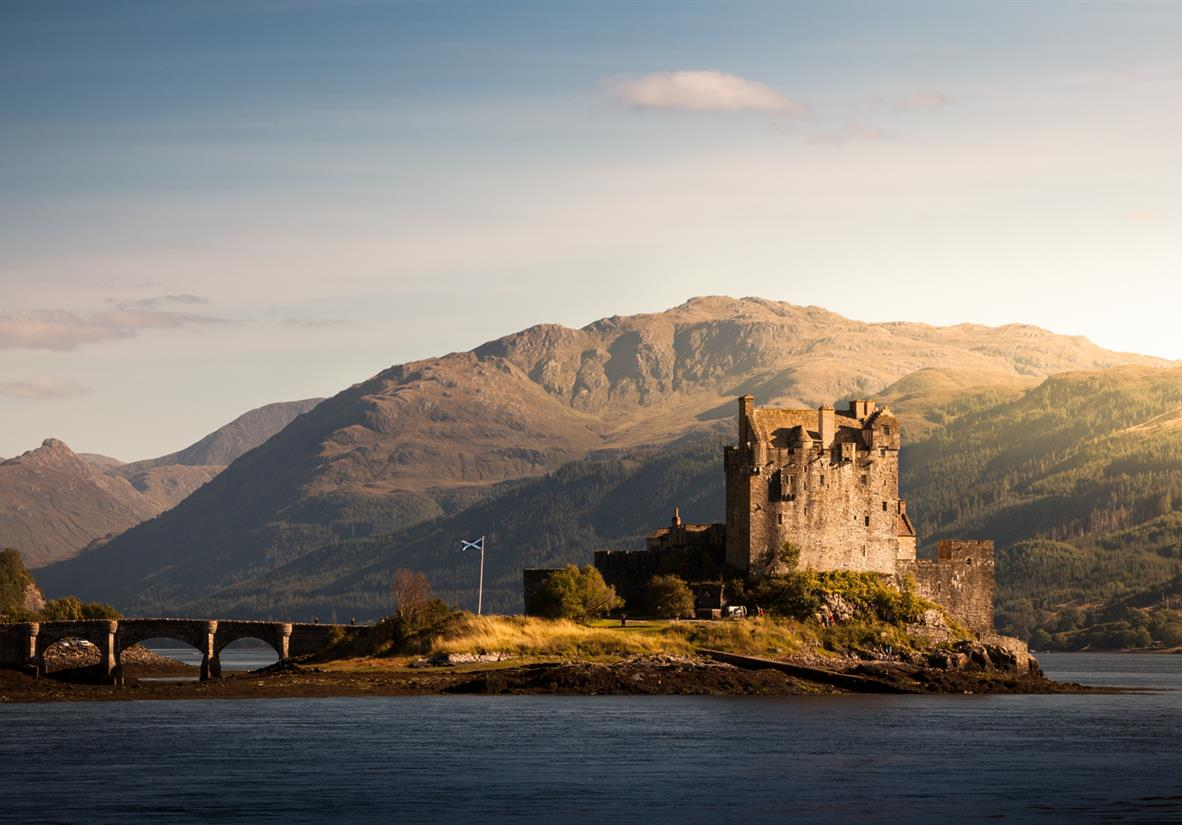The famous Eilean Donan Castle on the west coast