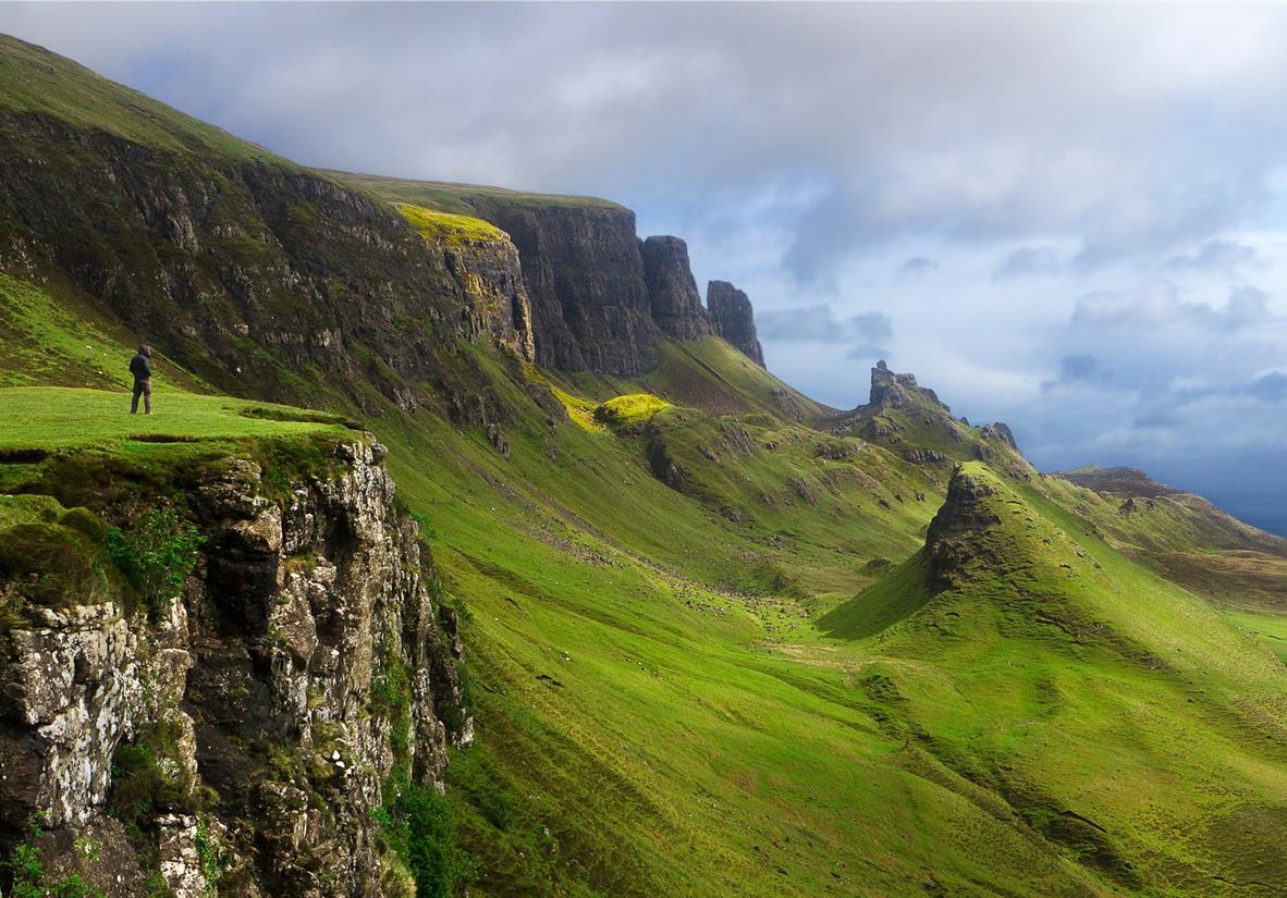 Blick nach Norden entlang des Trotternish Ridge