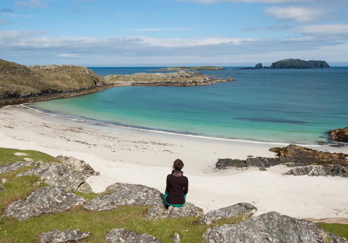 Take in the views of the Hebridean islands