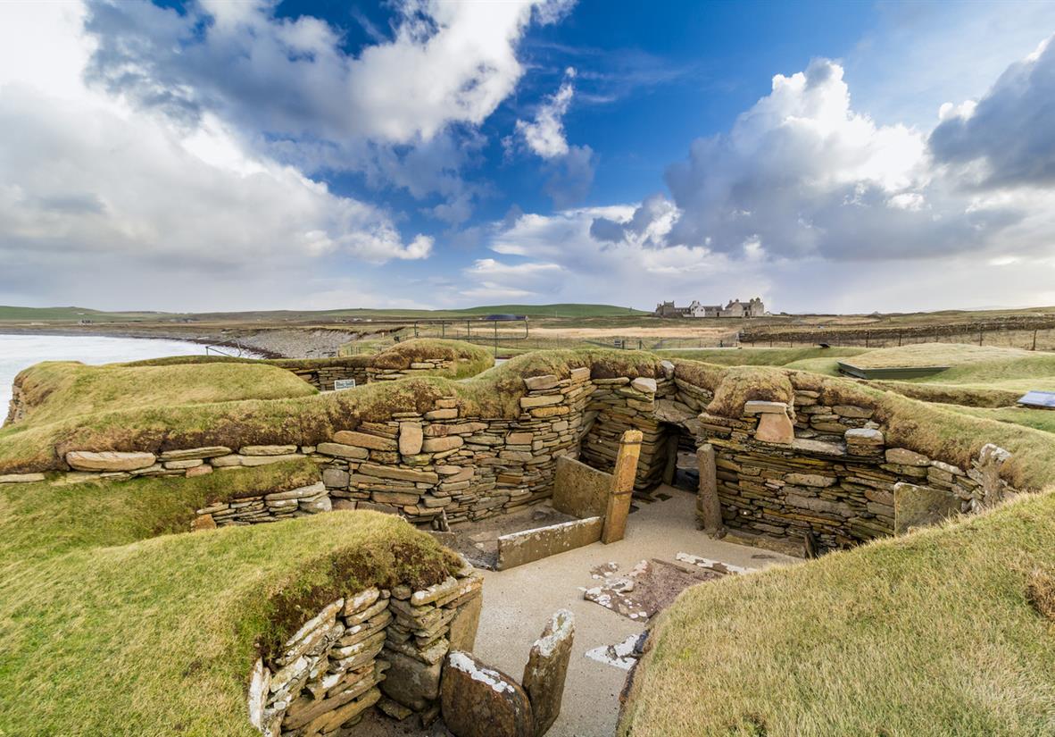 The iconic Neolithic settlement of Skara Brae