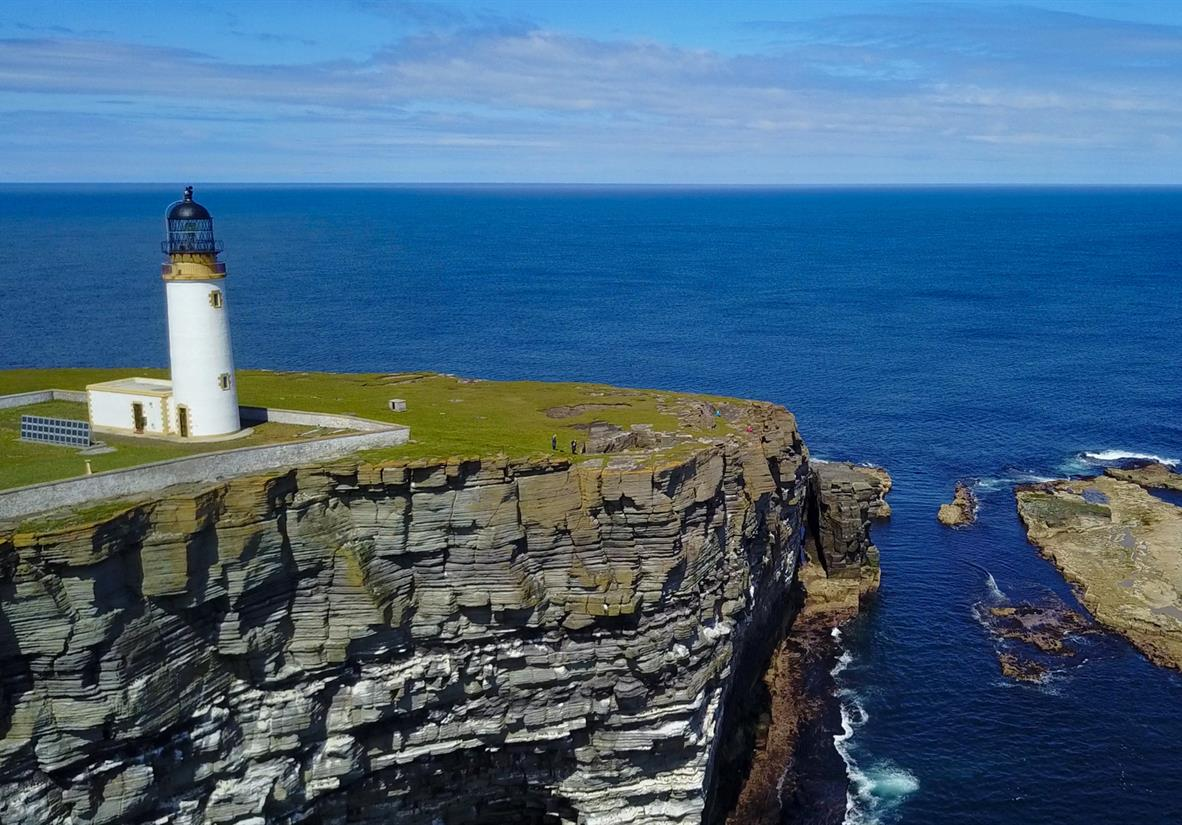Noup Lighthouse auf der Insel Westray