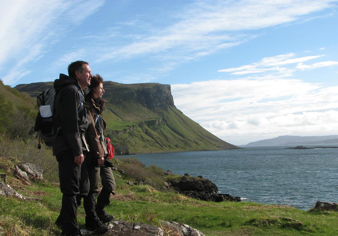 Walking Skye's dramatic coastline