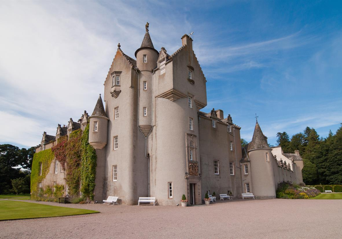 The fairytale turrets of Ballindalloch Castle