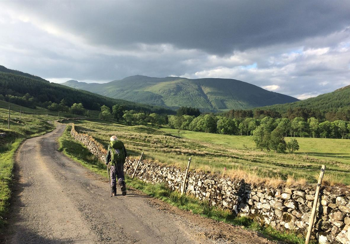 Enjoying scenery on the Trossachs Trail