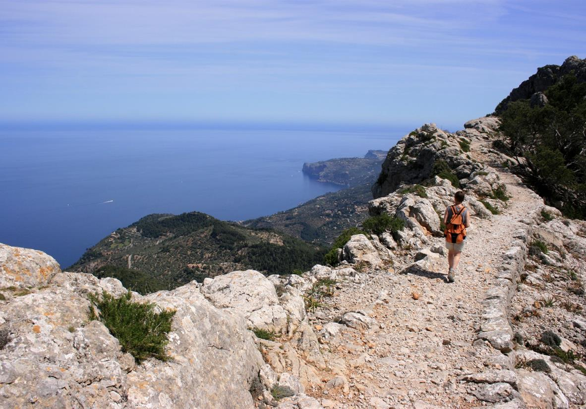 Enjoy views of the Med from coastal paths