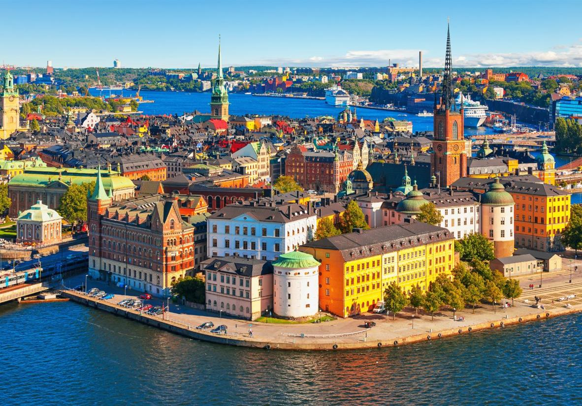The colourful city of Stockholm