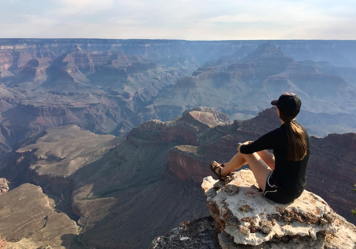 Taking in the views on the Grand Canyon rim