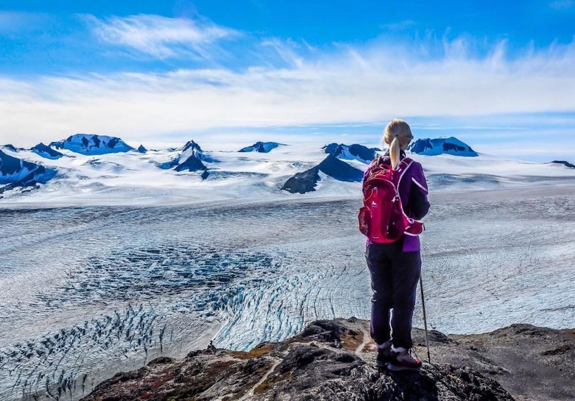 The awe-inspiring Harding Icefield
