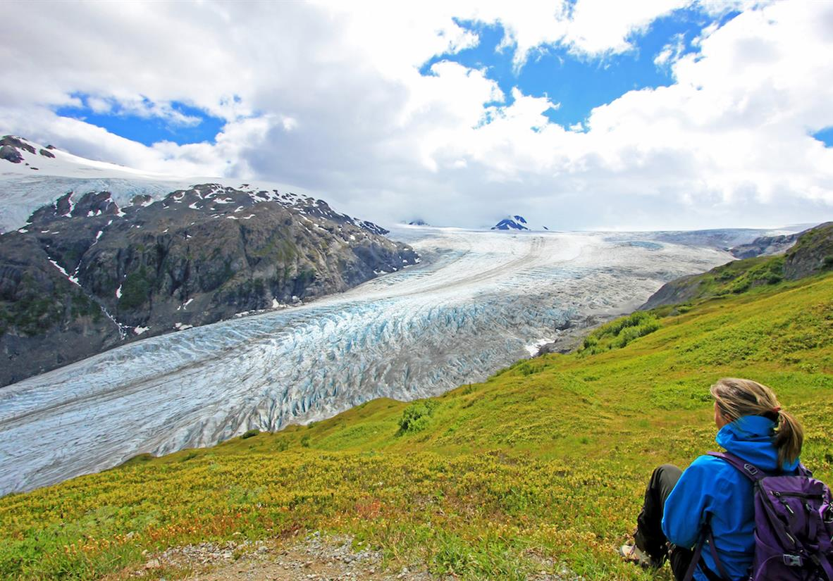 Take in the incredible Exit Glacier