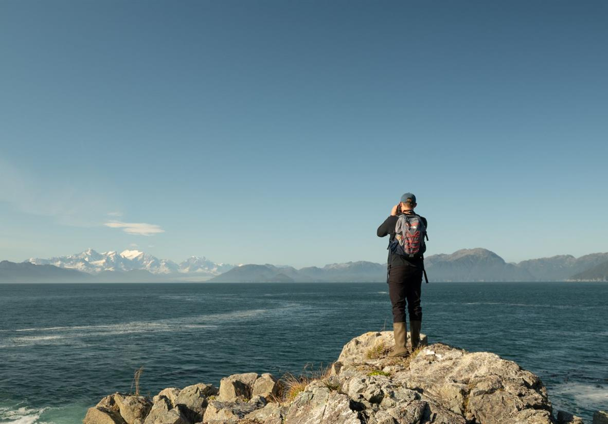Views during hike along Alaska coast