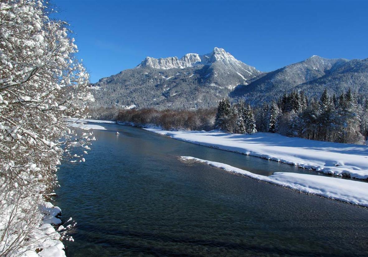 Der Lech im Winter©Naturpark Reutte