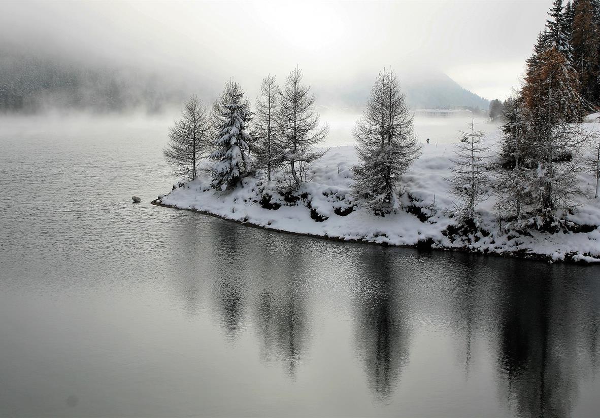 Winterlicher See