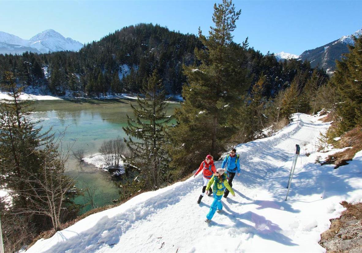 Winterwandern am Lech ©Naturpark Reutte