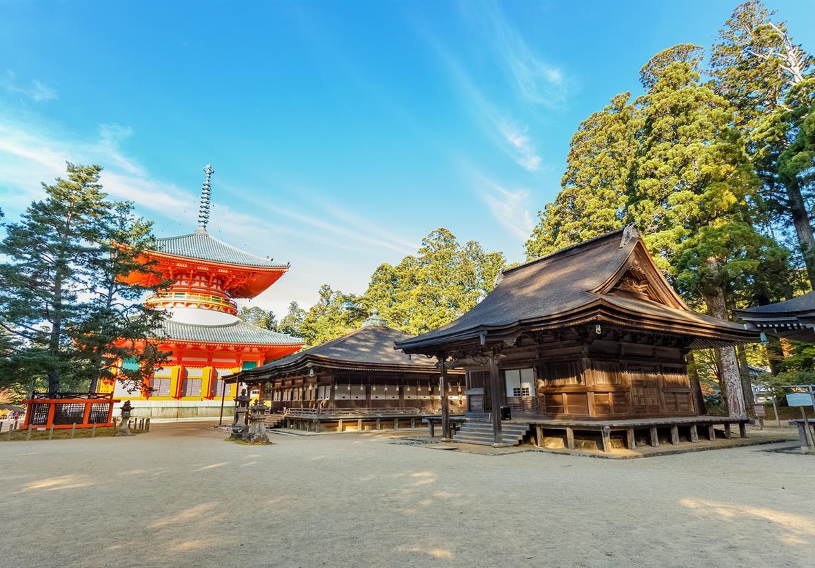Danjo Garan Temple in Wakayama Japan