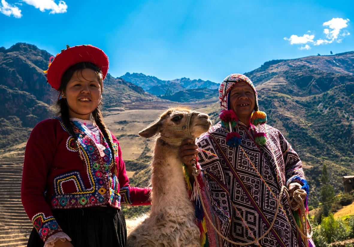 The bright colours of Peru