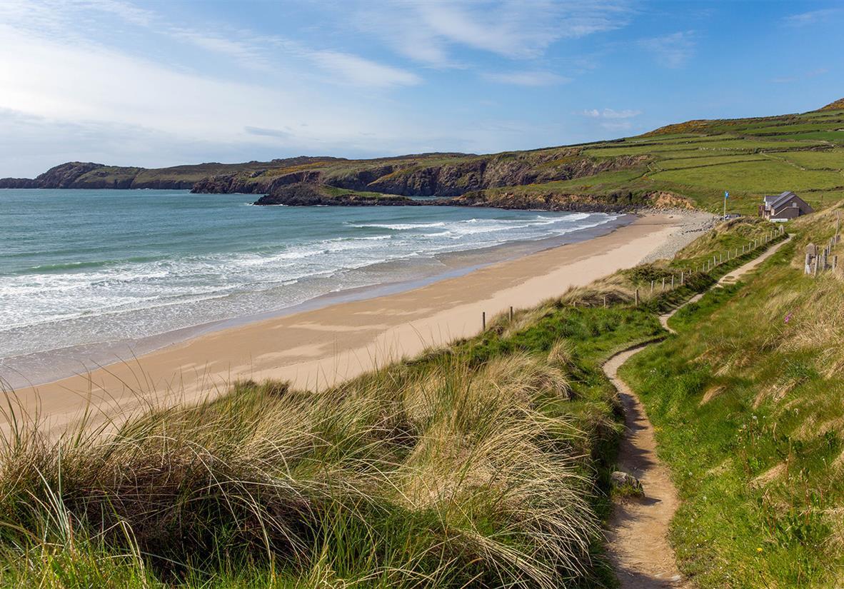 Wandern entlang der Küste von Wales