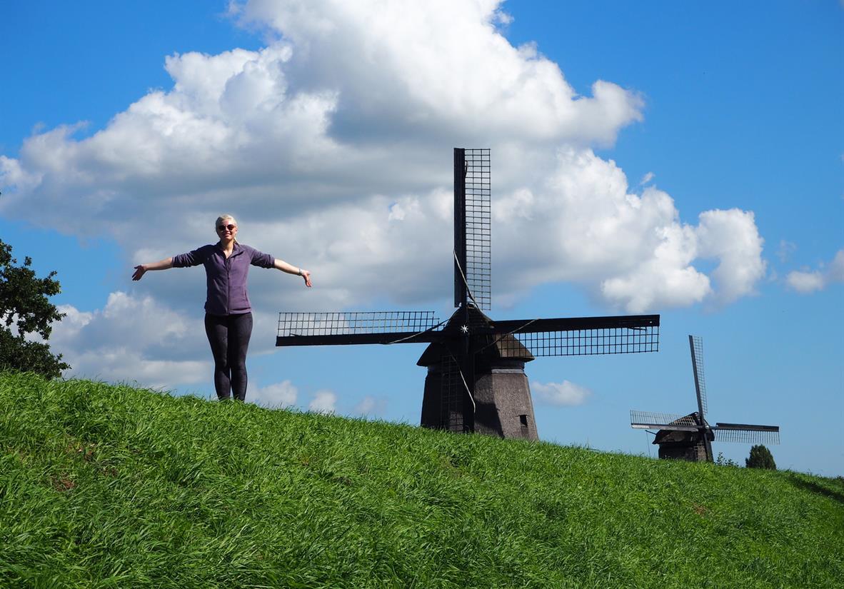 Typical Dutch windmills