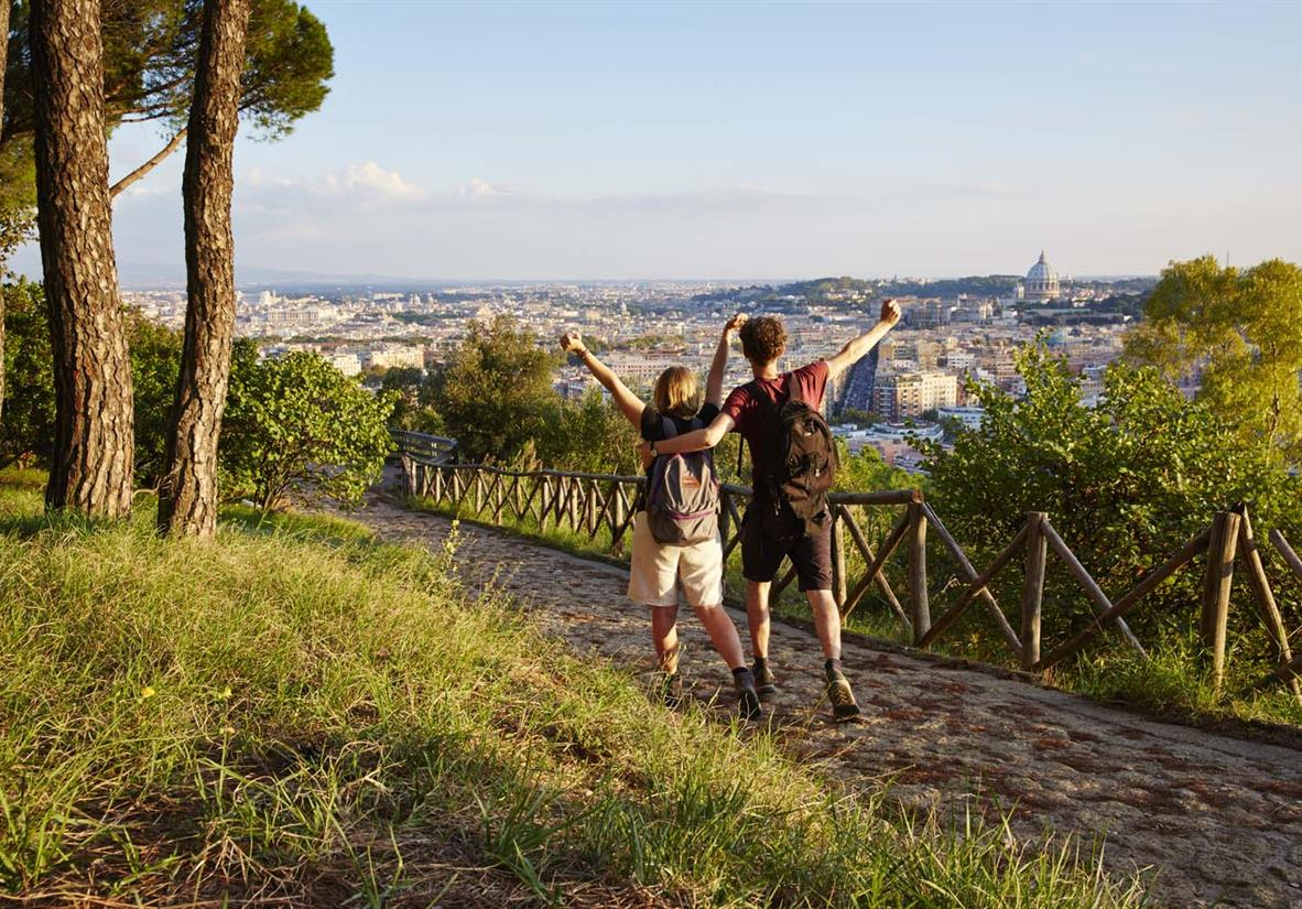 Hurrah - we almost made it, Rome in view