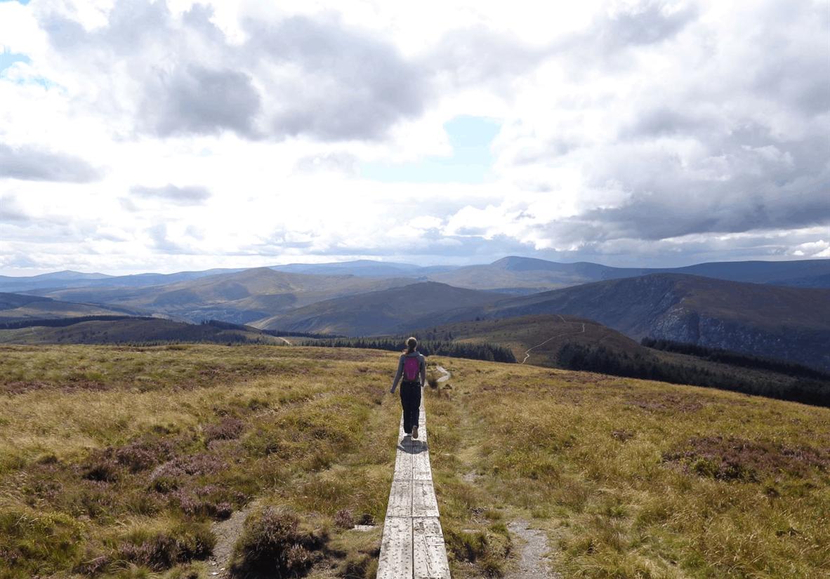 Walking towards Laragh