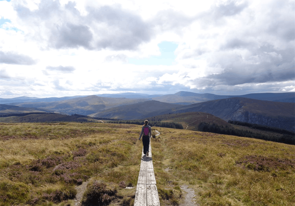Walking towards Laragh
