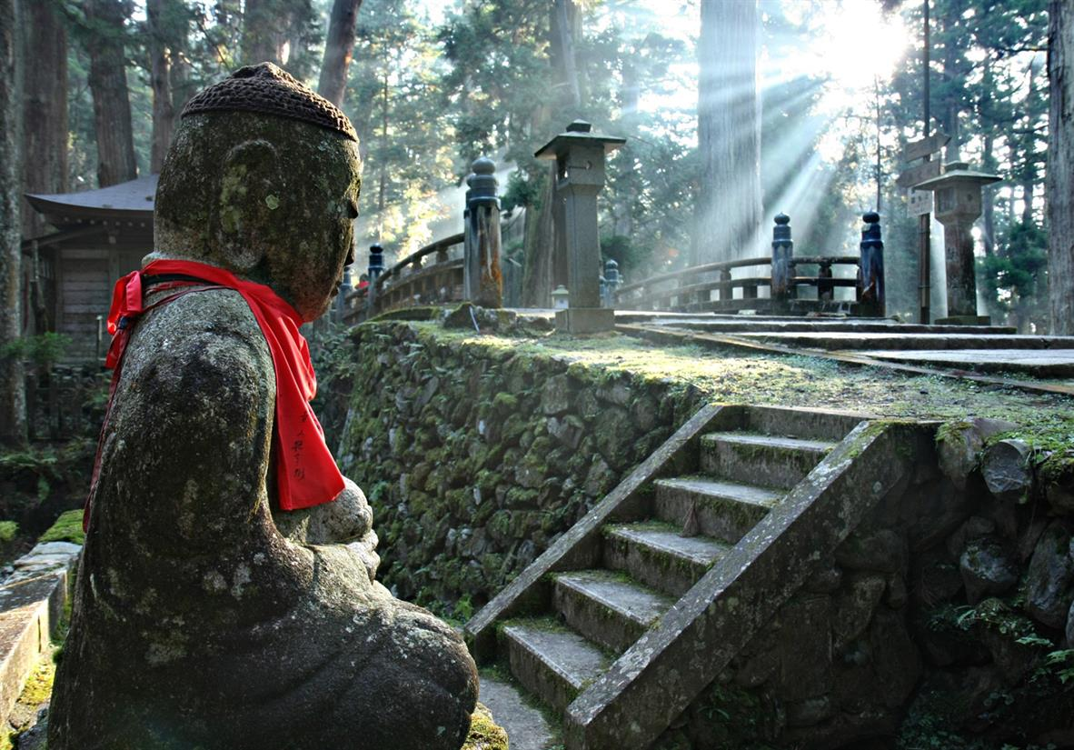 Marvel at the atmospheric Mount Koya