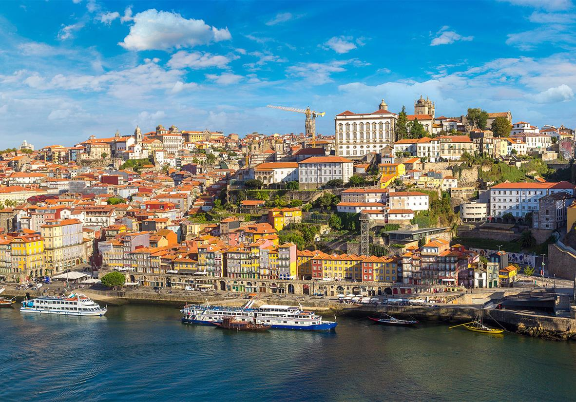 Start in the coastal city of Porto
