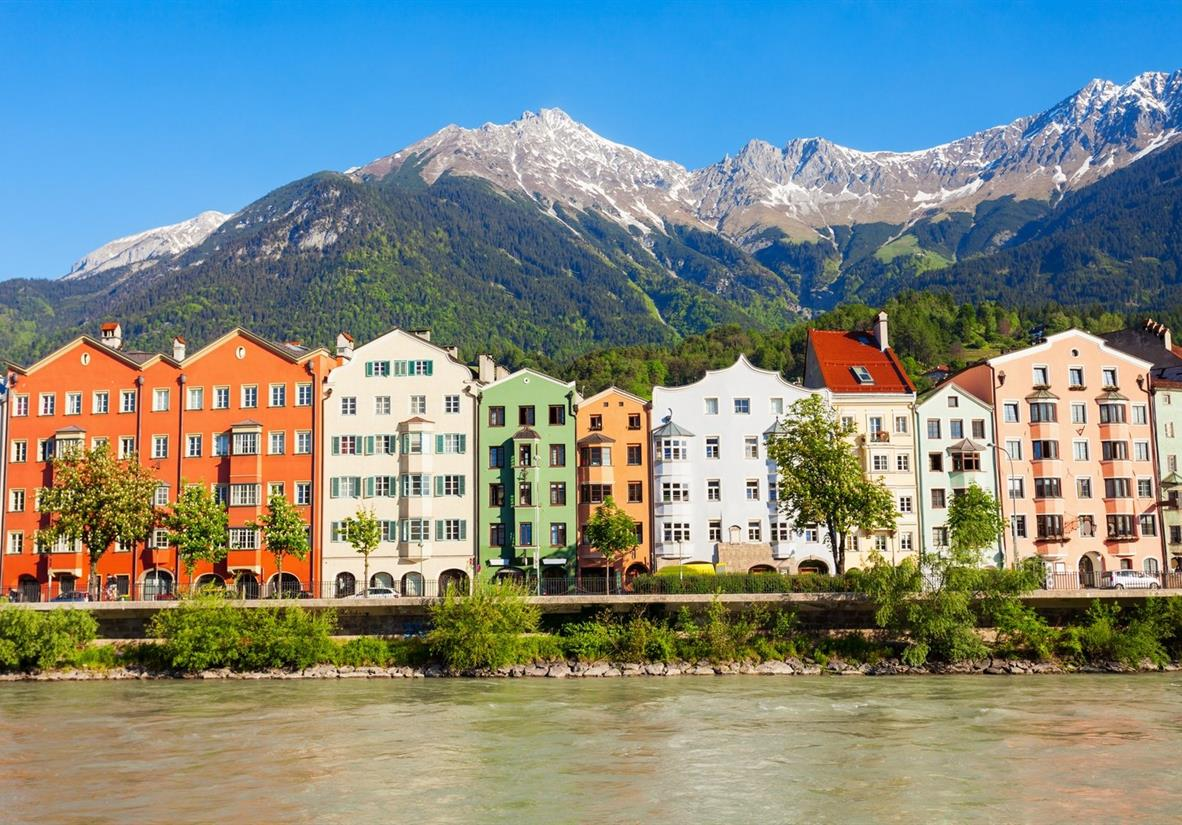 The Alpine city of Innsbruck